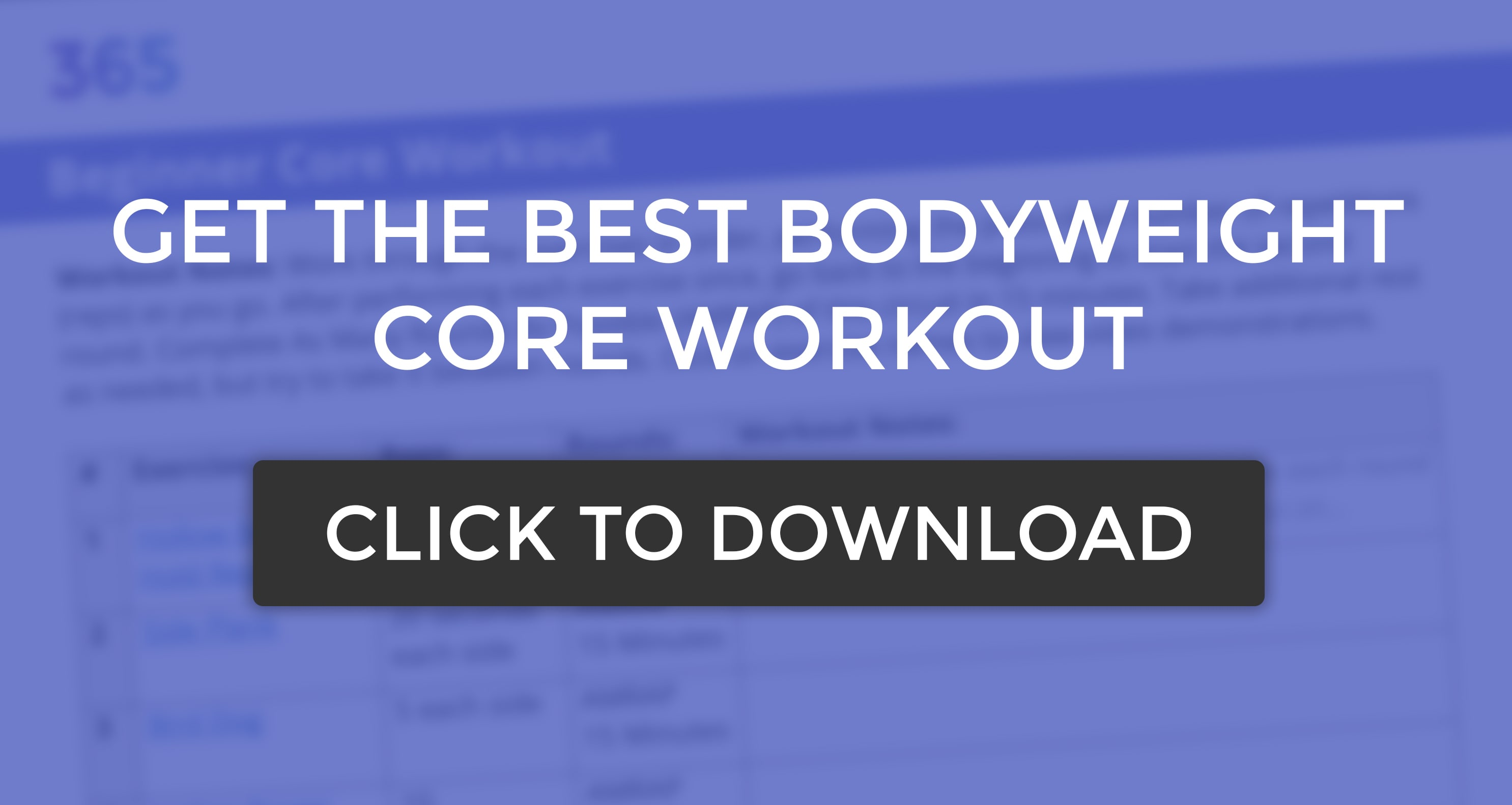 best core workout